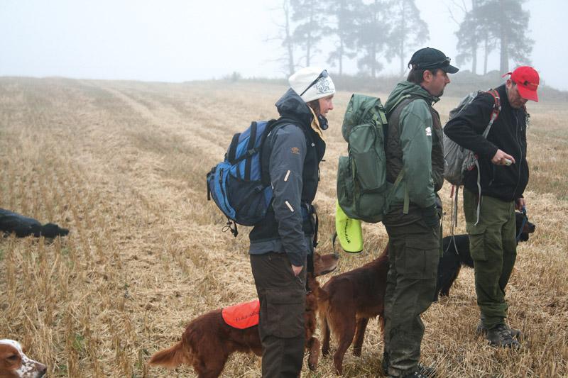 Randi og Rune på jaktprøve.